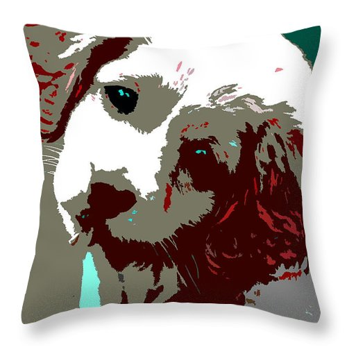 Throw Pillow featuring the photograph Abstract Pup by Burney Lieberman