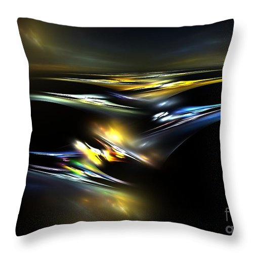 Abstract Throw Pillow featuring the digital art Abstract Reflections by Greg Moores