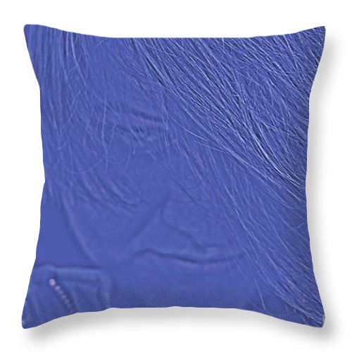 Person Throw Pillow featuring the photograph Abstract Teen Portrait by Susan Stevenson