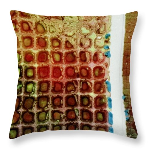 Abstract Throw Pillow featuring the painting Abstract Three by David Raderstorf