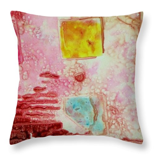 Abstract Throw Pillow featuring the painting Abstract Two by David Raderstorf