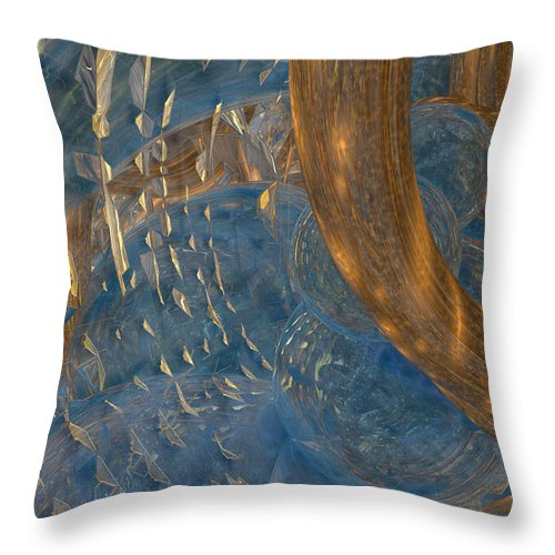 Abstract Throw Pillow featuring the digital art Abstract Water 5 by Marisa Gabetta