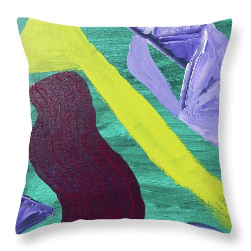 Abstract Throw Pillow featuring the painting Abstract Woman by Natalee Parochka