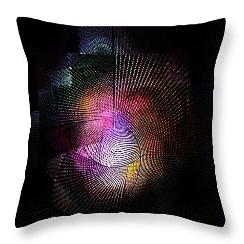 Fine Art Throw Pillow featuring the digital art Abstract110111b by David Lane
