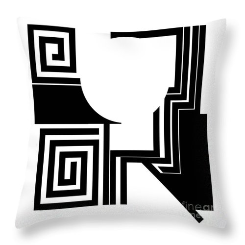 Abstract Throw Pillow featuring the digital art Abstract 2. by Nancy Mergybrower