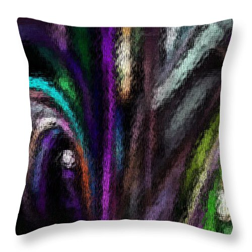 Fine Art Throw Pillow featuring the digital art Abstracted 090611a by David Lane