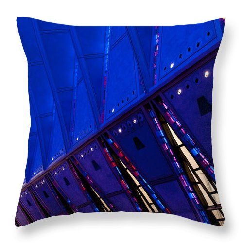 Air Force Throw Pillow featuring the photograph Academy Chapel Interior by Paulette B Wright