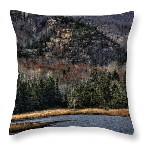 Hdr Throw Pillow featuring the photograph Acadia by Greg DeBeck