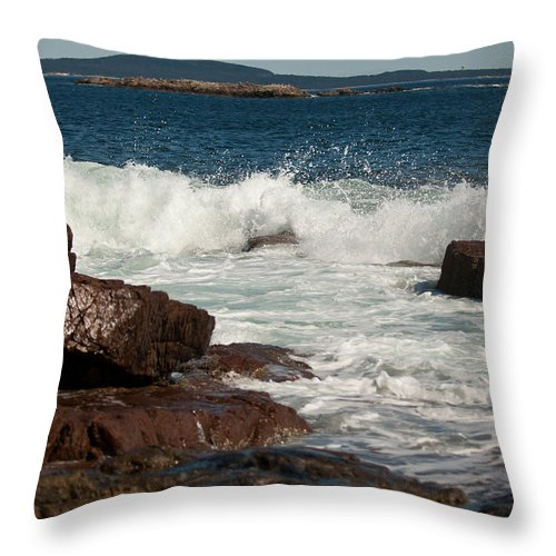 acadia National Park Throw Pillow featuring the photograph Acadian Shore by Paul Mangold