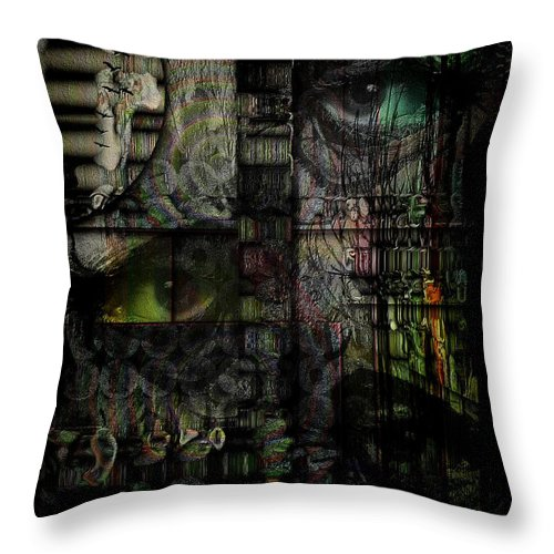 Accusations Throw Pillow featuring the digital art Accusations by Mimulux patricia No