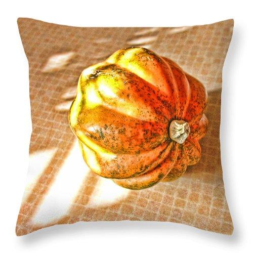 Acorn Squash Throw Pillow featuring the photograph Acorn Squash by Bonnie Bruno
