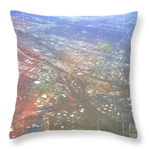 Aerial Throw Pillow featuring the photograph Aerial Graph by Anthony Wilkening