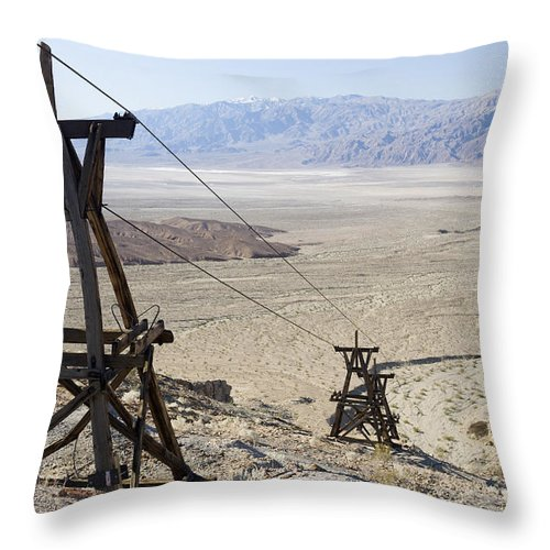 Color Image Throw Pillow featuring the photograph Aerial Once Used To Transport Gold by Pete Ryan