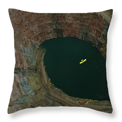 Aircraft Throw Pillow featuring the photograph Aerial View Of An Ultralight Plane by Joel Sartore