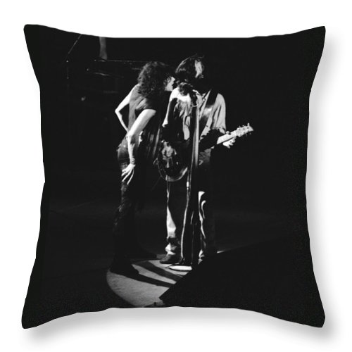 Aerosmith Throw Pillow featuring the photograph Aerosmith In Spokane 1 by Ben Upham