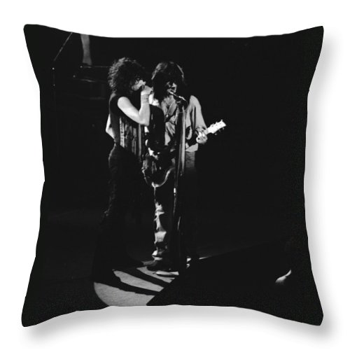 Aerosmith Throw Pillow featuring the photograph Aerosmith In Spokane 2 by Ben Upham