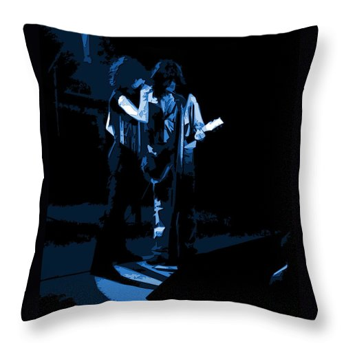 Aerosmith Throw Pillow featuring the photograph Aerosmith In Spokane 2b by Ben Upham