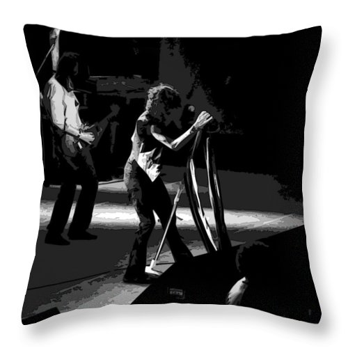 Aerosmith Throw Pillow featuring the photograph Aerosmith In Spokane 3 by Ben Upham