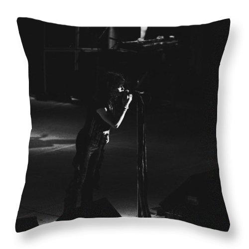Aerosmith Throw Pillow featuring the photograph Aerosmith In Spokane 4 by Ben Upham