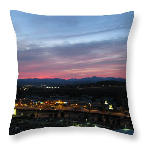 Sunset Throw Pillow featuring the photograph After Sunset by Caroline Lomeli