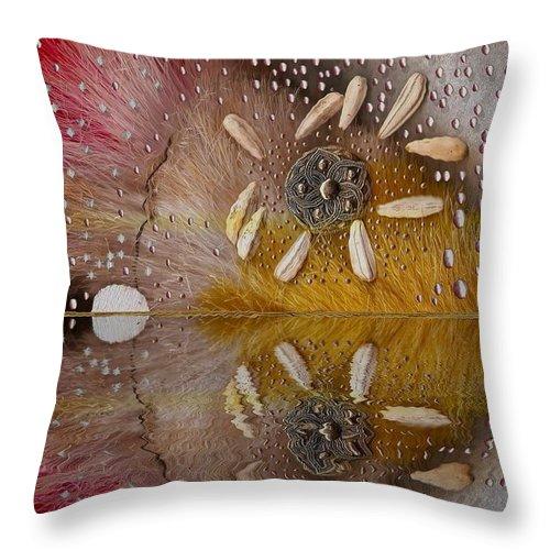 Seascape Throw Pillow featuring the mixed media After The Rain by Pepita Selles