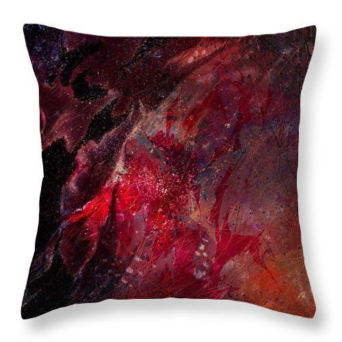 Abstract Throw Pillow featuring the digital art Against A Wire by Rachel Christine Nowicki