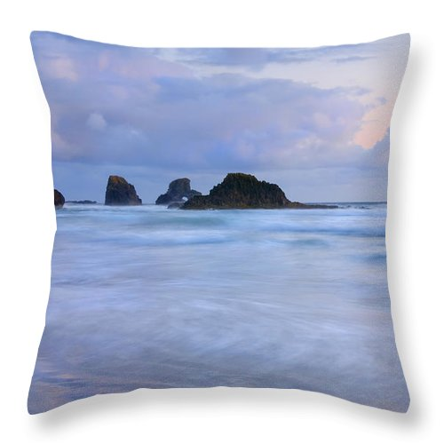 Tides Throw Pillow featuring the photograph Against The Tides by Mike Dawson