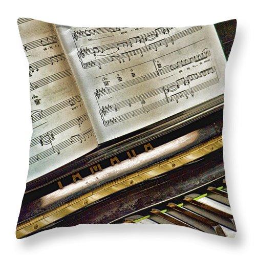 Keyboard Throw Pillow featuring the photograph Ahhhh.... by Sheri Bartoszek