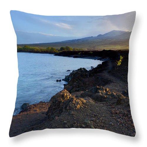 Hawaii Sunrise Throw Pillow featuring the photograph Ahihi Preserve And Haleakala Maui Hawaii by Dustin K Ryan