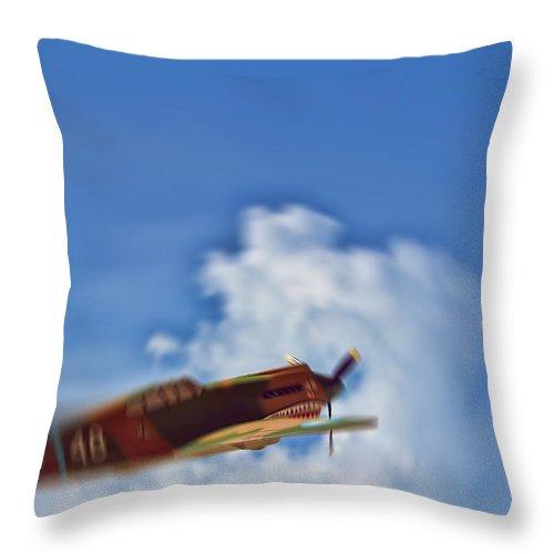 Hawk 81a 23fg2ps W48 P 8134 Hill Throw Pillow featuring the photograph Air Superiority 1942 by Douglas Barnard