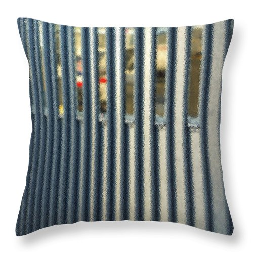 Airport Throw Pillow featuring the photograph Airport Jetway by Gwyn Newcombe