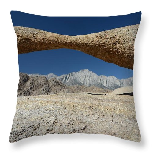 Alabama Hills Arch Throw Pillow featuring the photograph Alabama Hills Arch by Cassie Marie Photography