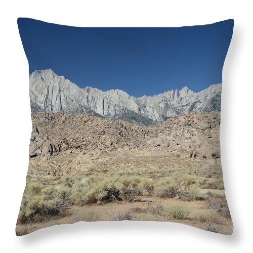 Alabama Hills Throw Pillow featuring the photograph Alabama Hills by Cassie Marie Photography