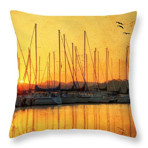 April Throw Pillow featuring the photograph Alabama Sunrise by Darren Fisher