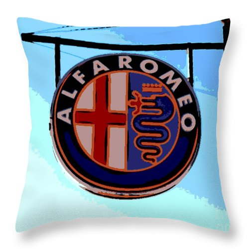 Alfa Romeo Throw Pillow featuring the photograph Alfa Romeo by George Pedro