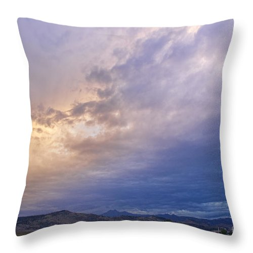colorado Nature Throw Pillow featuring the photograph Alien Sky by James BO Insogna
