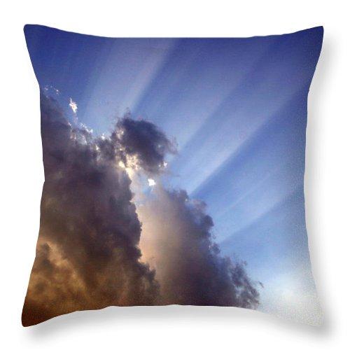 Sun Throw Pillow featuring the photograph Alive by Nina Fosdick