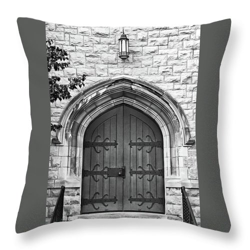 Buildings Throw Pillow featuring the photograph All Saints 8333 by Guy Whiteley