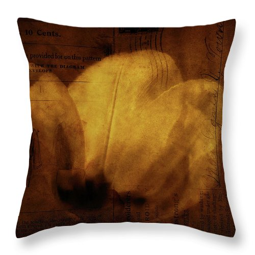 Seems Throw Pillow featuring the photograph All Seems Provided For by Rebecca Sherman