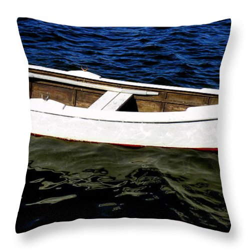 Row-boat Throw Pillow featuring the photograph All Tied Up by Lainie Wrightson