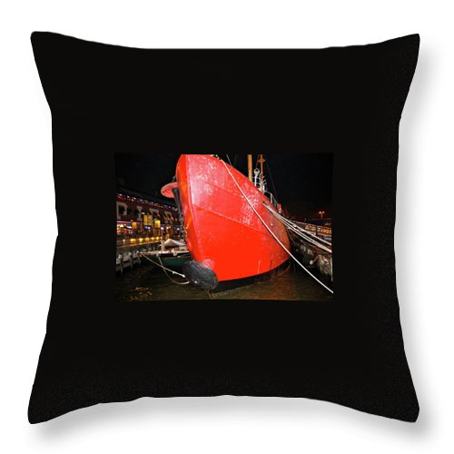 Ship Throw Pillow featuring the photograph All Tied Up by Terry Wallace