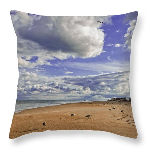 Beach Throw Pillow featuring the photograph Alone At Last by Jim Moore