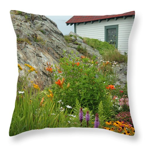 Maine Throw Pillow featuring the photograph Along The Coast Of Maine by Suzanne Gaff