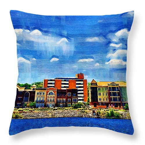 Decatur Throw Pillow featuring the photograph Along The Tennessee River In Decatur Alabama by Kathy Clark
