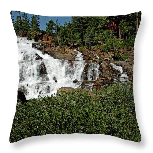 Usa Throw Pillow featuring the photograph Alpine Falls Lake Tahoe II by LeeAnn McLaneGoetz McLaneGoetzStudioLLCcom