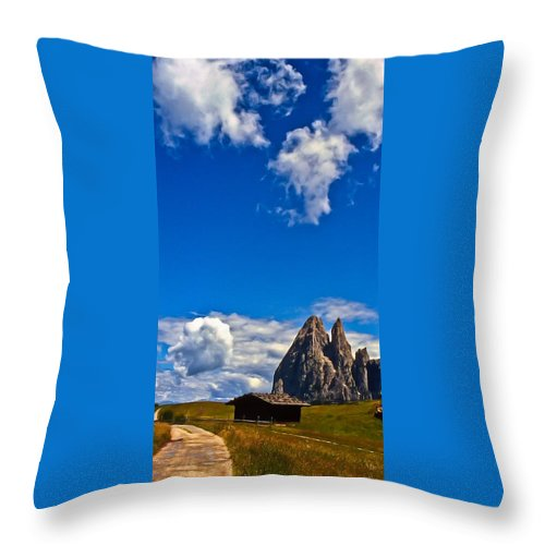 Alps Throw Pillow featuring the photograph Alps II by Michele Mule'