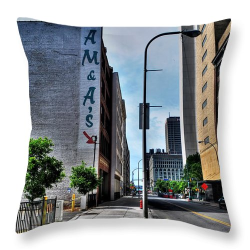 Throw Pillow featuring the photograph Am And As Downtown Buffalo by Michael Frank Jr
