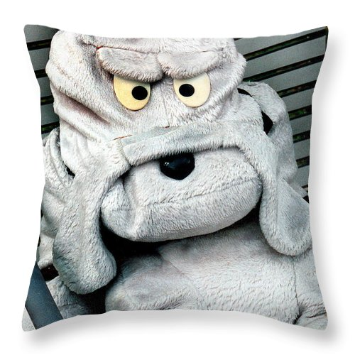 Animal Doll Throw Pillow featuring the photograph Am I Mad by Burney Lieberman