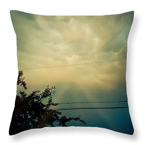 Cloud Throw Pillow featuring the photograph Amazing Trinity by Trish Tritz