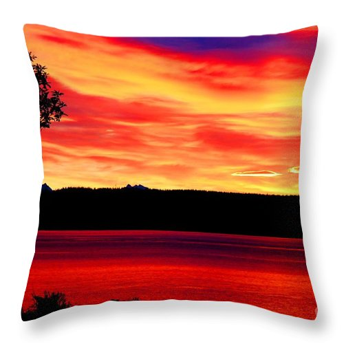 American Throw Pillow featuring the photograph American Glory by Tap On Photo